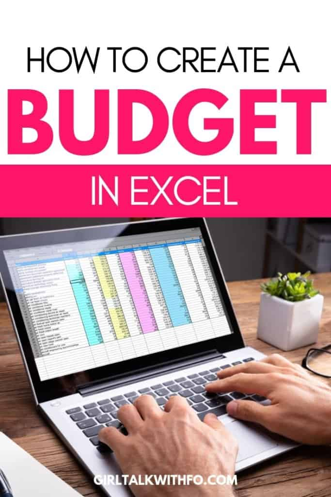 how to create a budget in excel  with video tutorial