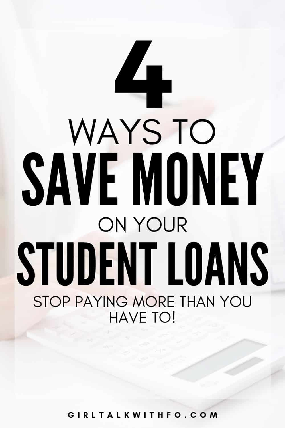 save on student loans